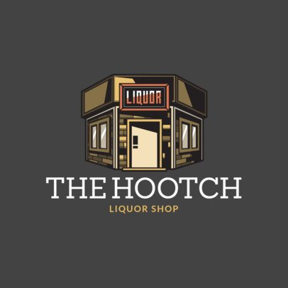 Logo Generator Featuring a Liquor Store Illustration Clipart 1815e