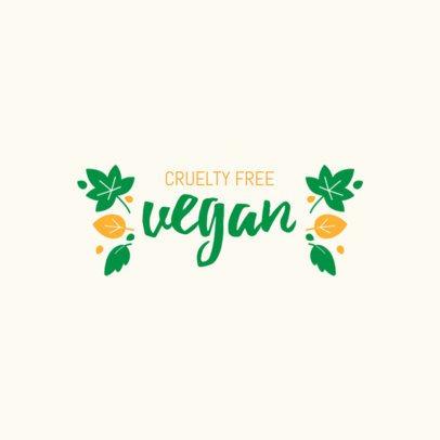 Simple Vegan Restaurant Logo Maker 1935