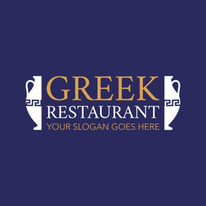 Traditional Greek Restaurant Logo Template 1911