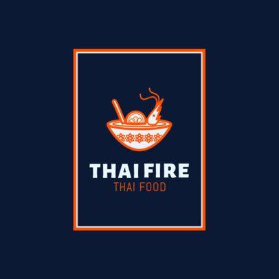 Thai Food Logo Maker for Pad Thai Restaurants 1841
