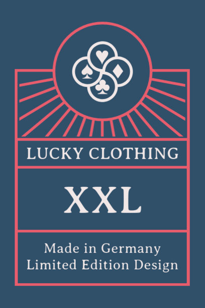 Customizable Tee Label Design Template for Apparel Wear 1046c