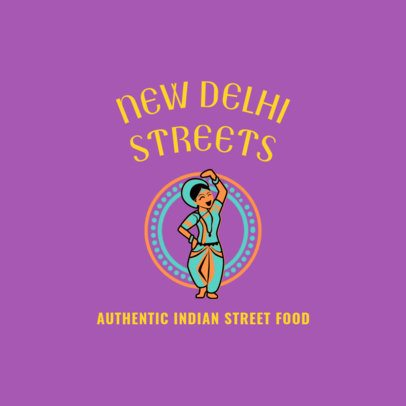 Restaurant Logo Maker with an Indian Dancer Clipart 1828d