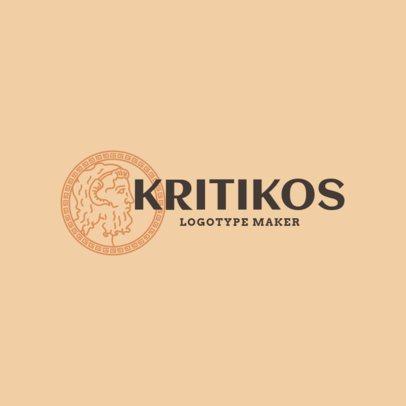 Greek Restaurant Logo Maker with Greek Illustration 1912c