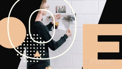 Facebook Cover Video Maker with Abstract Geometric Transitions 1224