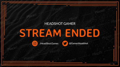 Twitch Overlay Maker for an Ended Stream Announcement 1222