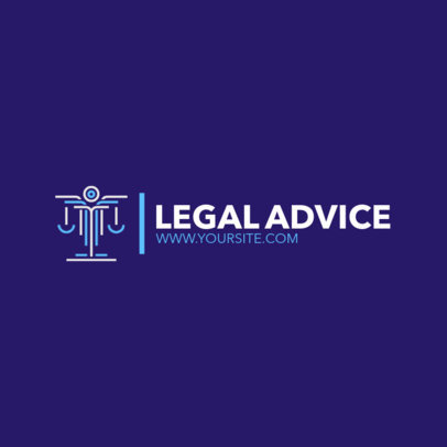 Justice Logo Maker for Legal Advice 1852c