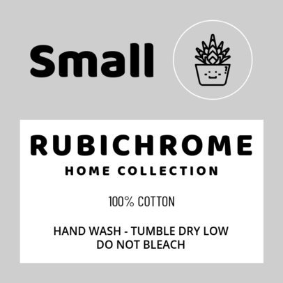 Clothing Label Design Template for a Home Collection 1135a