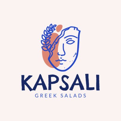 Mediterranean Food Logo Maker for a Greek Salad Restaurant 1913c