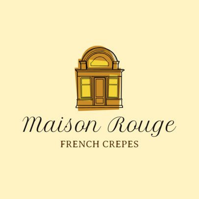 Elegant Logo Maker for a French Crepes Place 1811a