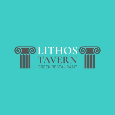 Greek Food Logo Maker for a Greek Tavern 1911a