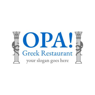 Greek Restaurant Logo Maker with a Bold Design 1911e