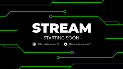 Twitch Stream Starting Soon Overlay Maker with Chip Circuit Graphics 1220