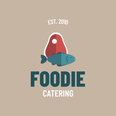 Food Service Logo Maker For Surf and Turf Food 1924d