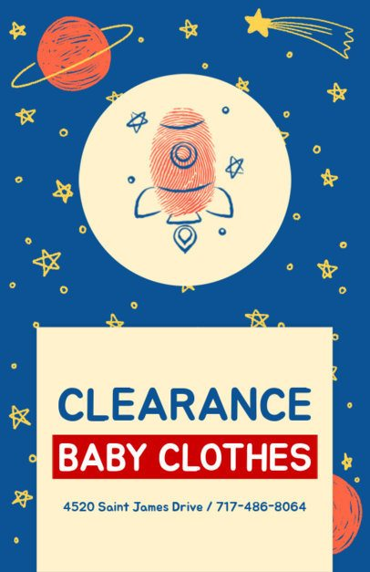 Flyer Design Maker for Baby Clothing Brand 502d