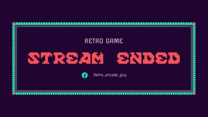 Twitch Ending Screen Overlay Maker with Retro Video Game Fonts 1226c
