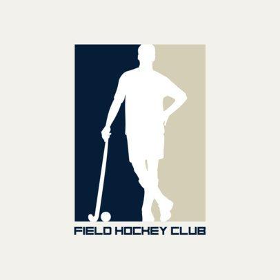 Field Hockey Club Logo Design Template 1933c