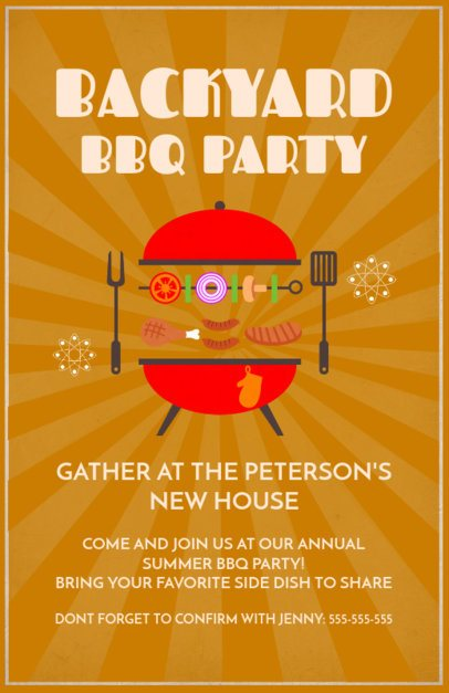 Flyer Design Template for a BBQ Party 78b