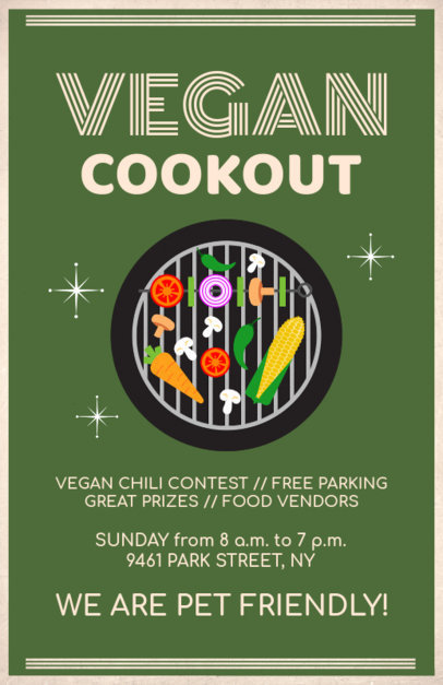 Vegan BBQ Flyer Template 78c