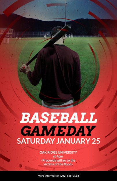 Online Flyer Maker for Baseball Games 108c
