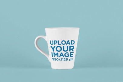 Mockup of a Coffee Mug on a Solid Color Surface 26464