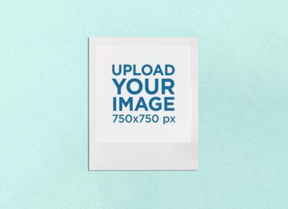Mockup of a Polaroid Frame on a Flat Surface 26285