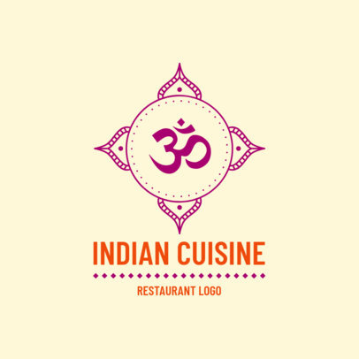 Classic Indian Cuisine Logo Maker 1832c