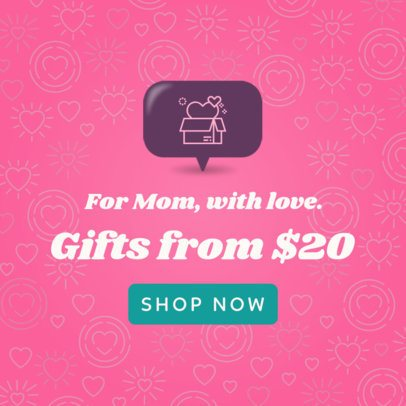 Banner Maker for a Mother's Day Promo 1056f