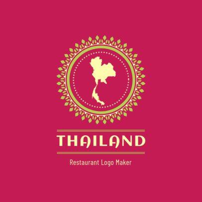 Restaurant Logo Maker Featuring a Map of Thailand 1837a