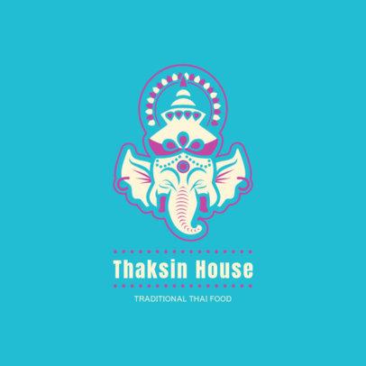 Restaurant Logo Maker for Traditional Thai Food 1837d