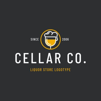 Logo Design Maker for a Modern Liquor Store 1813b