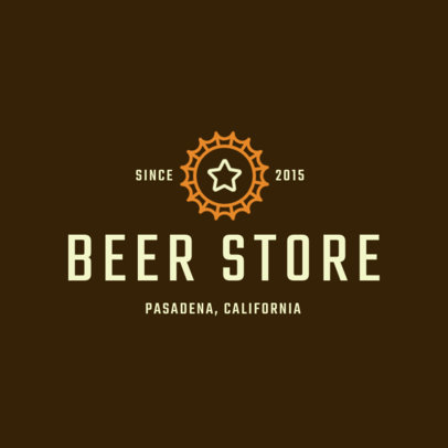 Liquor Store Logo Template with Simple Illustrations 1813c