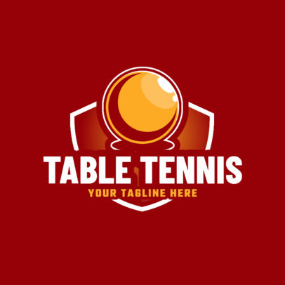 Simple Table Tennis Logo Maker with Colorful Badges 1625b