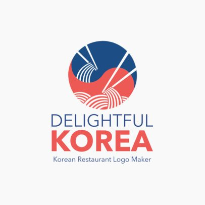 Korean Restaurant Logo Maker with a Minimalistic Design 1919