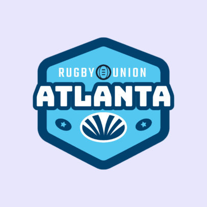 Rugby Logo Design Template for a Rugby Union 1618b