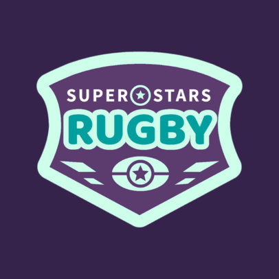 Rugby Logo Design Template for a Cool Rugby Team 1618d