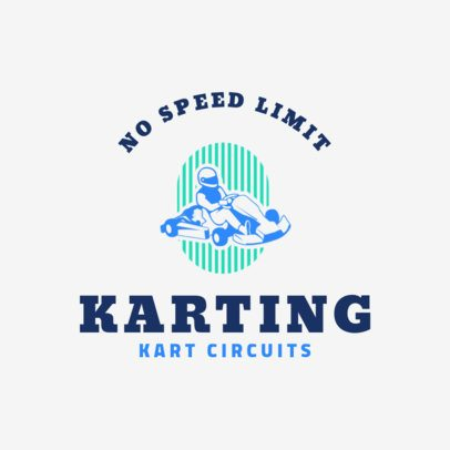 Racing Logo Maker for a Kart Team 1647e