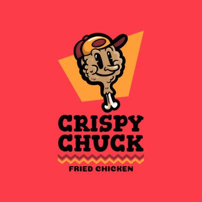 Crispy Chicken Restaurant Logo Template 1231c