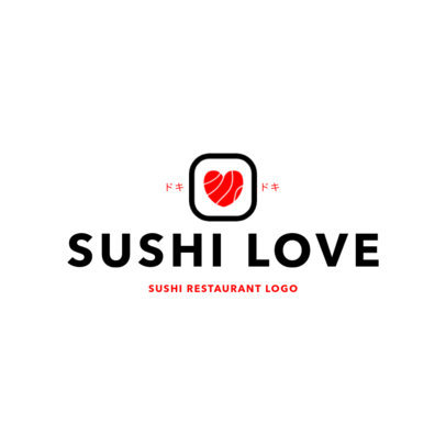 Japanese Food Logo Maker for a Sushi Restaurant 1822a