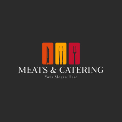 Logo Template for a Meats and Catering Service 1923c
