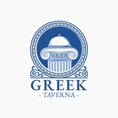 Greek Restaurant Logo Generator with a Classic Design 1914c