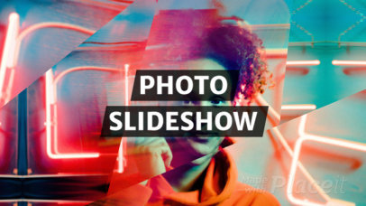 Photo Slideshow Video Maker with Kaleidoscope Motion Graphics 1296