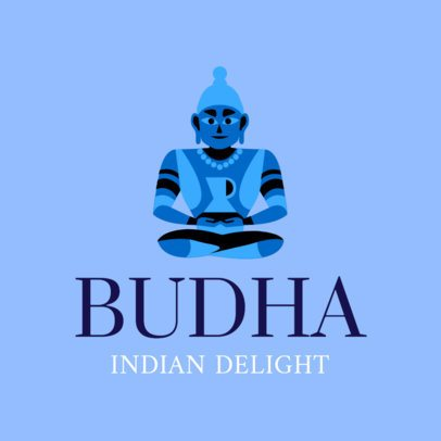 Indian Cuisine Logo Maker with a Buddha Graphic 1831b