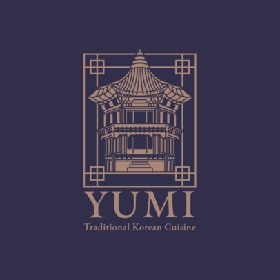 Classical Logo Generator for a Traditional Korean Cuisine Restaurant 1921c