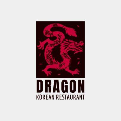 Restaurant Logo Maker with a Korean Dragon Illustration 1921d