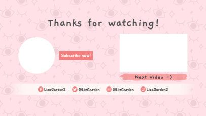 YouTube End Screen Template with Cool Doodle Patterned Background 1262