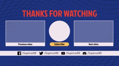 Youtube End Screen with a Sports-Style Design 1267