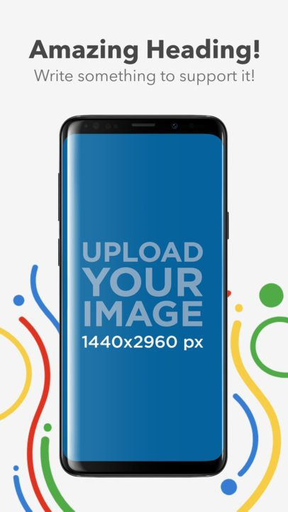 Android Screenshot Maker of a Samsung Galaxy S9 Plus in Portrait Position 1319
