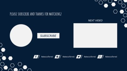 End Screen Template with Subscribe Button for YouTubers 1252e