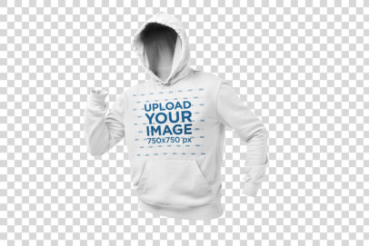 Ghosted Hoodie Mockup in a Running Position 26963
