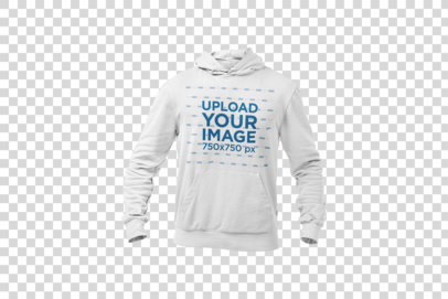 Pullover Hoodie Mockup of a Ghosted Model Against a Solid Surface 26964